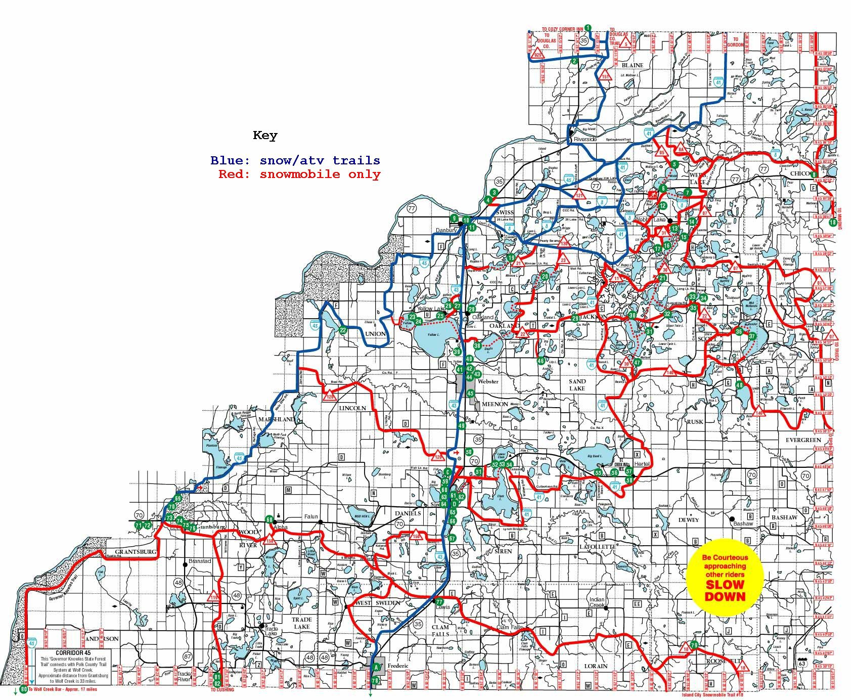 Burnett County Trail Map